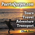 Visit PuertoQuepos.com for all your tour, travel, and transport needs.